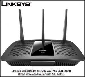 Linksys Max Stream EA7300 AC1750 Dual-Band Smart Wireless Router with MU-MIMO